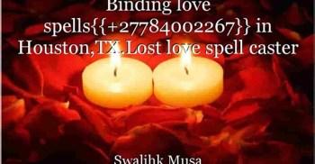 Binding love spells